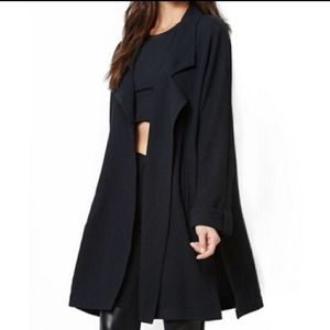 Kendall & Kylie Black Oversized Trench Coat